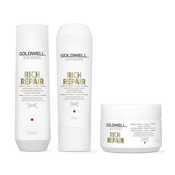 Goldwell Dualsenses Rich Repair Champú 250ml + Acondicionador 200ml + Mascarilla 200ml