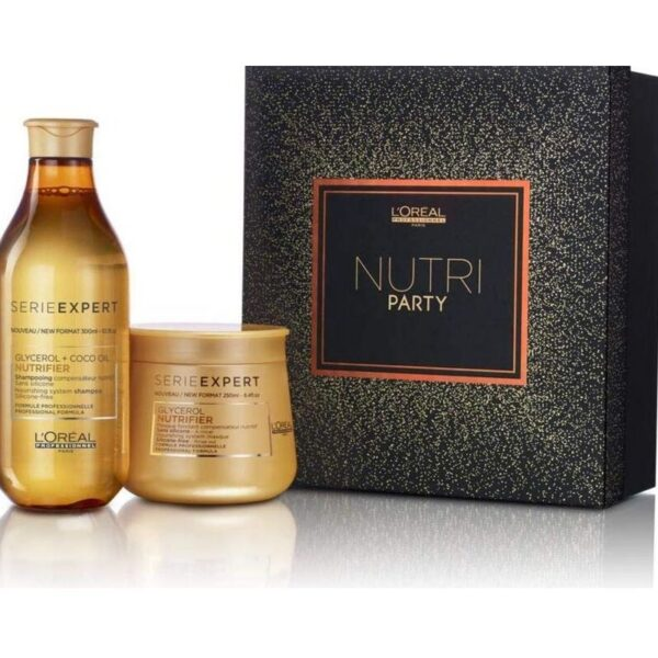 L´Oreal Serie Expert Nutri Party Glycerol + Coco Oil Nutrifier Champú 300ml + Mascarilla 250ml