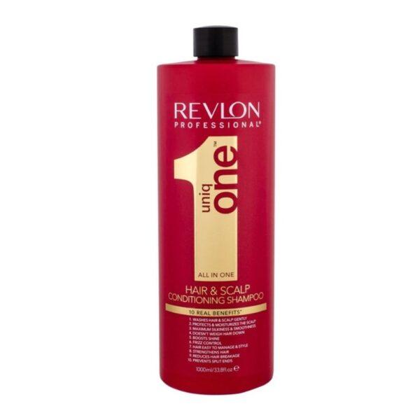 Revlon Uniq One Champú y Acondicionador 1000ml + Tratamiento Coconut 150ml