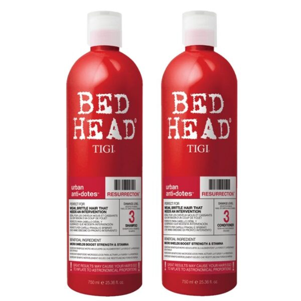 Tigi Bed Head Urban Anti+Dotes Level 3 Resurrection Champú 750ml + Acondicionador 750ml