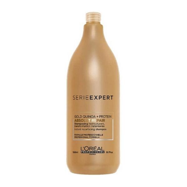 L´Oreal Serie Expert Gold Quinoa + Protein Absolut Repair Champú 1500ml + Acondicionador 1000 ml + Mascarilla 500ml