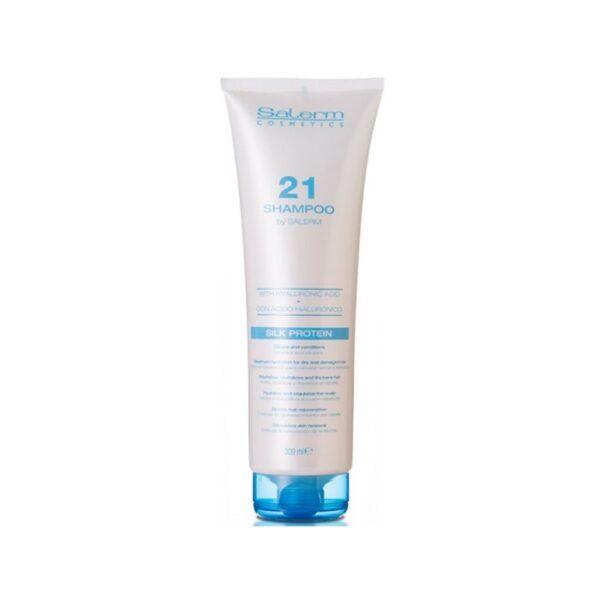 Salerm 21 Pack Champú Silk Protein 300 ml + Silk Protein Acondicionador Sin Aclarado 250ml