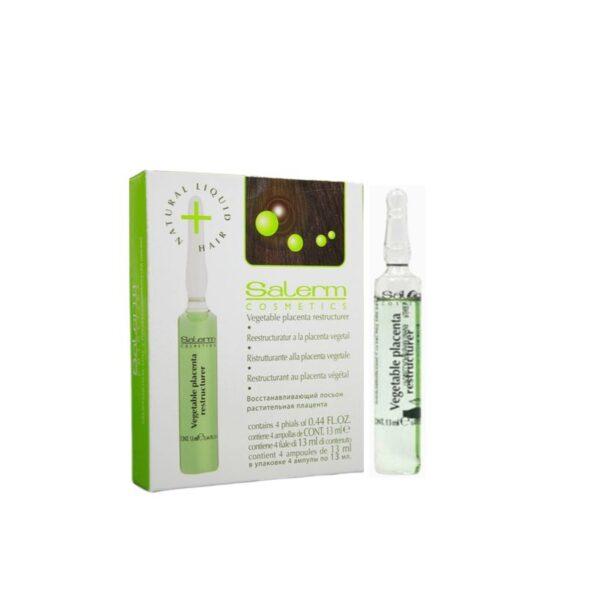 Salerm Cosmetics Tratamiento Reestructurador a La Placenta Vegetal 4 Ampollas x 13ml