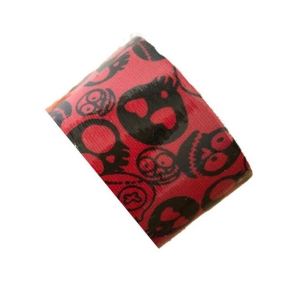 Cinta Kinesiología Bb-Tape 5cm X 5m Venda Neuromuscular (Calaveras Roja)