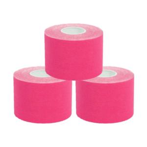 KC Cinta Kinesiología Tape 5cm X 5m Cinta Muscular 3 UnidadES Rosa