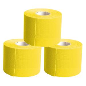 KC Cinta Kinesiología Tape 5cm X 5m Cinta Muscular 3 Unidades Amarillo