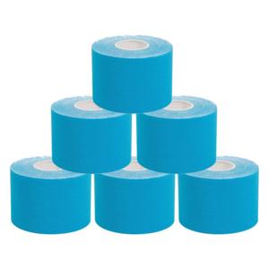 KC Cinta Kinesiología Tape 5cm X 5m Cinta Muscular 6 UnidadES Azul