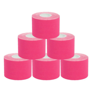 KC Cinta Kinesiología Tape 5cm X 5m Cinta Muscular 6 UnidadES Rosa