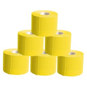 KC Cinta Kinesiología Tape 5cm X 5m Cinta Muscular 6 Unidades Amarillo
