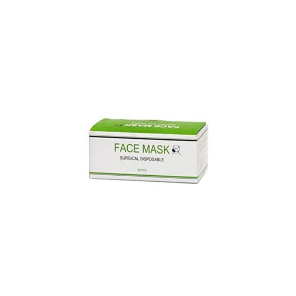 Máscara Tapa Boca De 3 Capas De Algodón 50 Unidades (Color Verde)