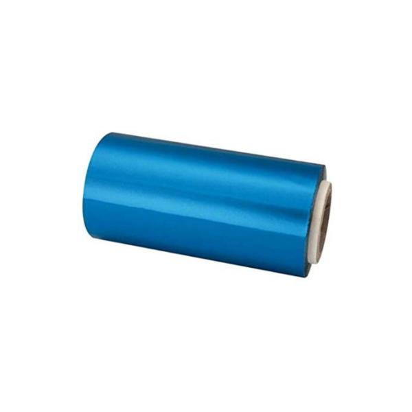 Rollo De Papel Aluminio Para Mechas con dispensador 12cm x 70 Mts (Azul)