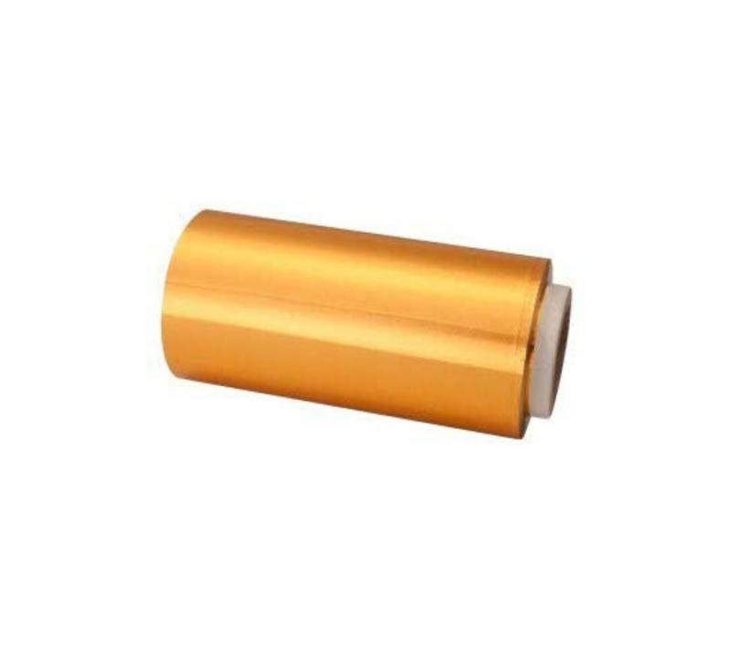 KC Rollo De Papel Aluminio Para Mechas 12cm x 70 Mts Oro