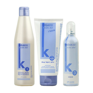 KC Salerm Kit Mantenimiento Keratin Shot Champu 500ml + Mascarilla 200ml + Serum 100ml