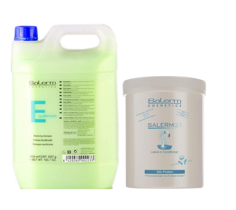 KC Salerm Pack Equilibrante Champú 5100ml + Salerm 21 Silk Protein 1000ml