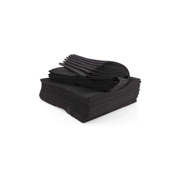 Toallas Spun-Lace Negra 40×80 100 Unidades