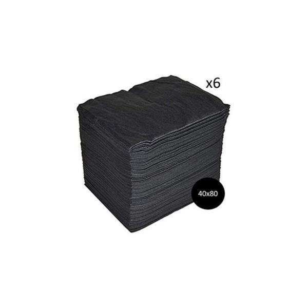 Toallas Spun-Lace Negra 40×80 600 Unidades