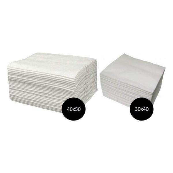Tollas Spun-Lace Blancas Pedicura 40×50 100 Unidades + Manicura 30×40 100 Unidades