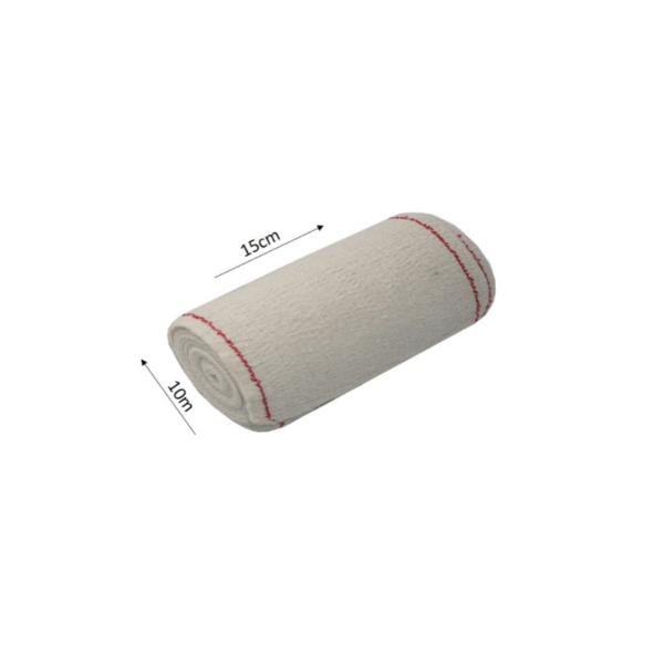Venda Elástica De Crepe Sin Látex Para Soporte, Fijación Y Reposo, Bordes Tejidos (Extra 85 Gr/M2, 15cmx10m)
