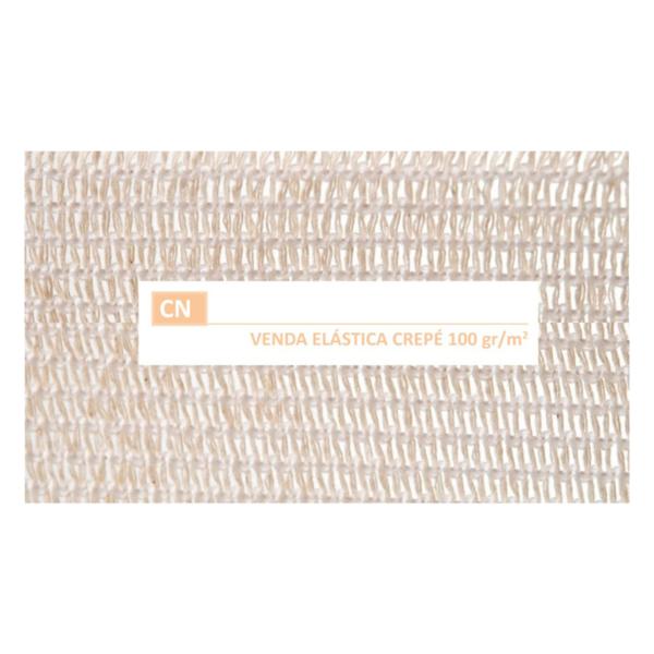Venda Elástica De Crepe Sin Látex Para Soporte, Fijación Y Reposo, Bordes Tejidos (Cn 100 Gr/M2, 5cmx4m)