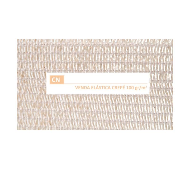 KC Venda Elástica De Crepe Sin Látex Para Soporte Fijación Y Reposo Bordes Tejidos Cn 100 GrM2 10cmx10m