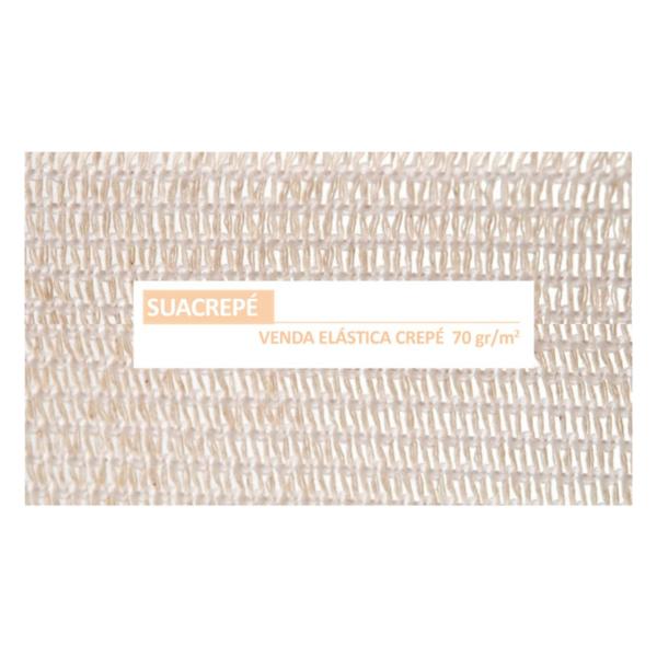 Venda Elástica De Crepe Sin Látex Para Soporte, Fijación Y Reposo, Bordes Tejidos (Suacrepe 70 Gr/M2, 20cmx4m)
