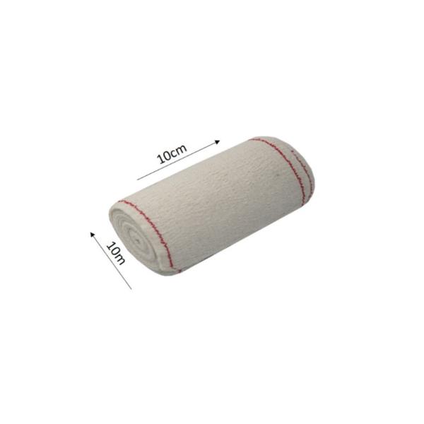 Venda Elástica De Crepe Sin Látex Para Soporte, Fijación Y Reposo, Bordes Tejidos (Cn 100 Gr/M2, 10cmx10m)