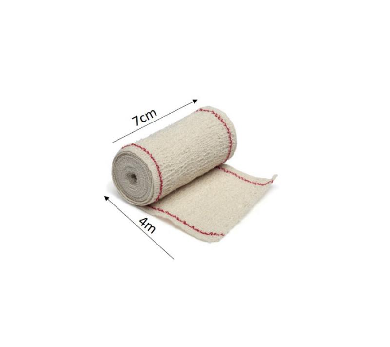 KC Venda Elástica De Crepe Sin Látex Para Soporte Fijación Y Reposo Bordes Tejidos Suacrepe 70 GrM2 7cmx4m