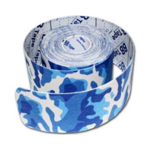 kc Cinta Kinesiología Bb Tape 5cm X 5m Venda Neuromuscular Camuflaje Azul
