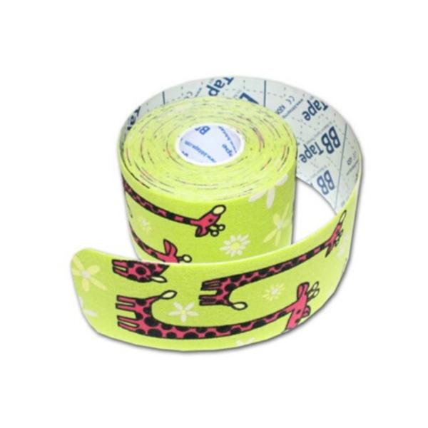 Cinta Kinesiología Bb-Tape 5cm X 5m Venda Neuromuscular (Jirafa Verde)