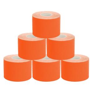 kc Cinta Kinesiología Tape 5cm X 5m Cinta Muscular 6 Unidades Naranja