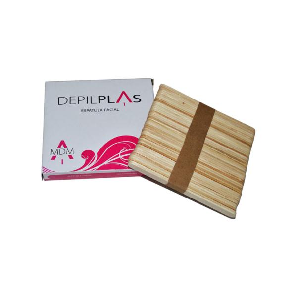 Espátula facial de madera para cera depilatoria 100 unidades
