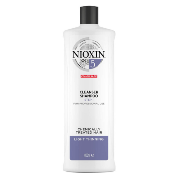 Nioxin System 5 Champú Chemically Treated Hair Debilitamiento Medio 1000ml
