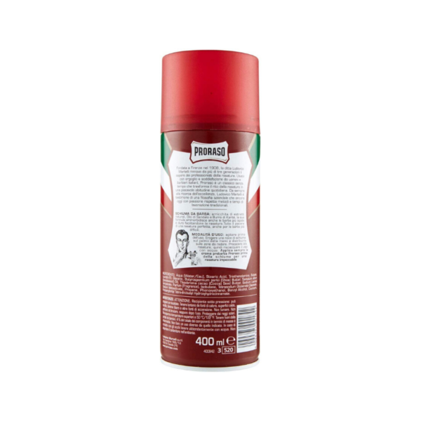 Proraso Shell Foam Para Barba Dura 400ml