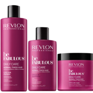 Revlon Be Fabulous Daily Care Cabello Normal / Grueso Champú 1000ml + Acondicionador 750ml + Mascarilla 500ml