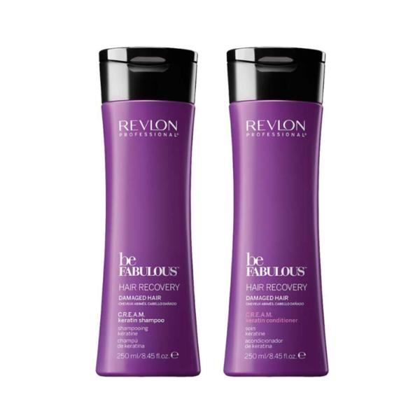 Revlon Be Fabulous Hair Recovery Cabello Dañado Champú 250ml + Acondicionador 250ml