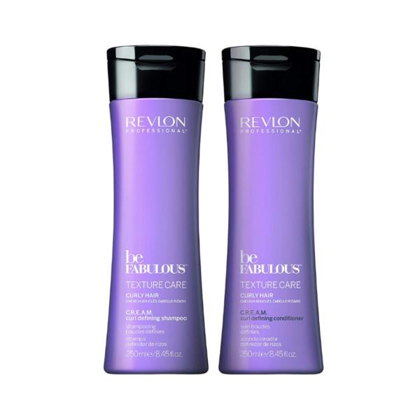 Revlon Professional Be Fabulous Texture Care Curly Hair Champú 250ml + Acondicionador 250ml