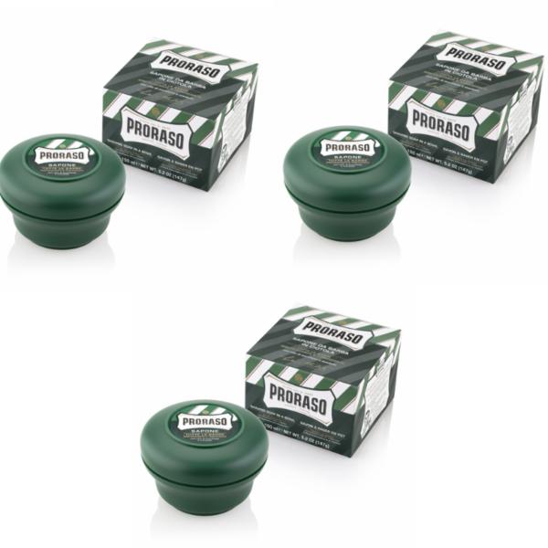 Proraso Green Shaving Soap In A Bowl 3 x 150ml