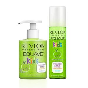 Revlon Equave Kids Champú Green Apple 300ml + Acondicionador Green Apple 200ml
