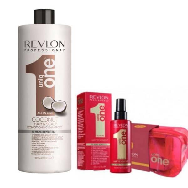 Revlon Uniq One Coconut Champu y Acondicionador 1000ml + Tratamiento 150ml