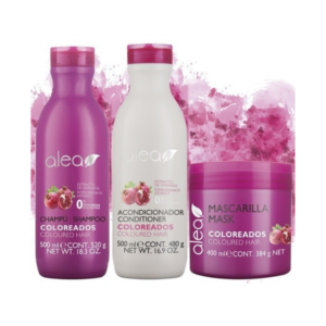 Alea Coloreados Champú 500ml + Acondicionador 500ml + Mascarilla 400ml