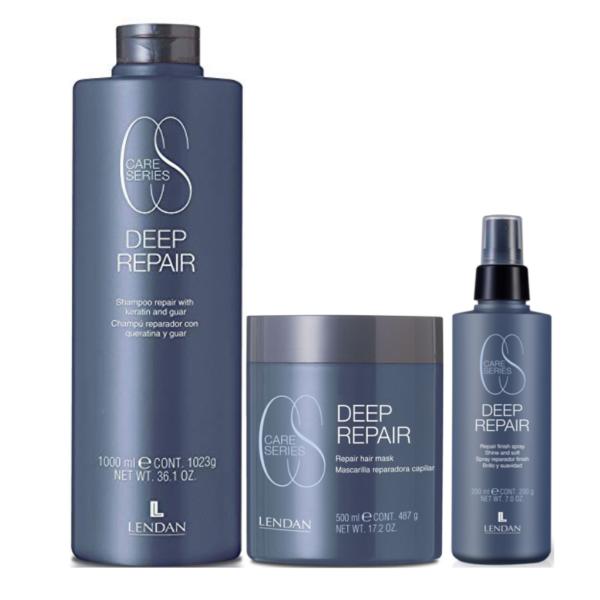 Lendan Care Series Deep Repair Champú 1000ml + Mascarilla 500ml + Spray Finish 200ml