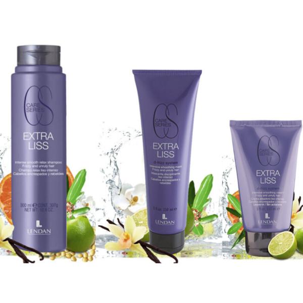 Lendan Care Series Extra Liss Champú 300ml + Mascarilla 150ml + Crema Alisadora 150ml