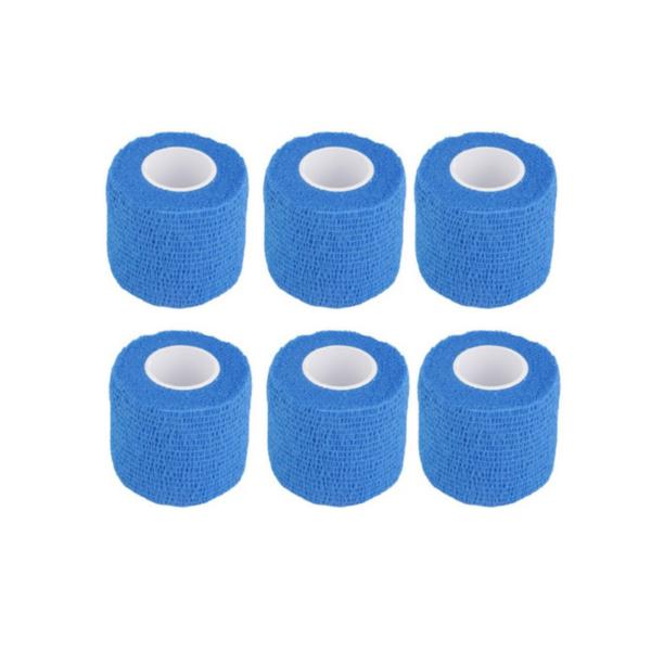 Venda Elástica Cohesiva Nt 5cm x 4,5m Latex Color Azul 6 Unidades