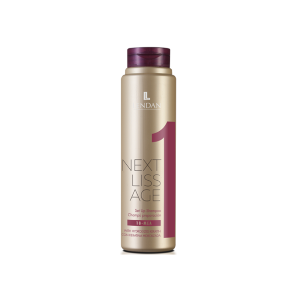 Lendan Next Liss Age Champú Reparación 300ml + Spray Mantenimiento Alisado 200ml