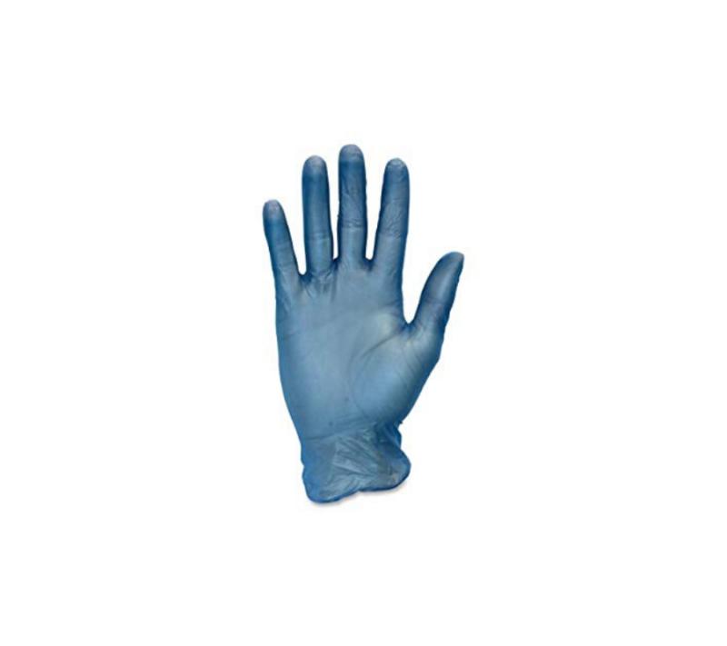 Luna Guantes de Vinilo Sin Polvo Color Azul Caja de 100 Unidades