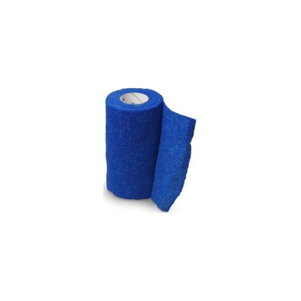 Venda Elástica Cohesiva Nt 10cm x 4,5m Latex Color Azul