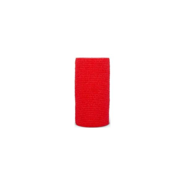 Venda Elástica Cohesiva Nt 10cm x 4,5m Latex Color Rojo