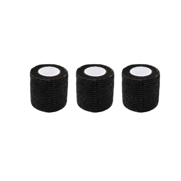 Venda Elástica Cohesiva Nt 5cm x 4,5m Latex Color Negro 3 Unidades