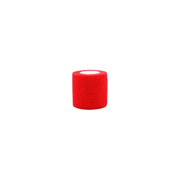 Venda Elástica Cohesiva Nt 5cm x 4,5m Latex Color Rojo