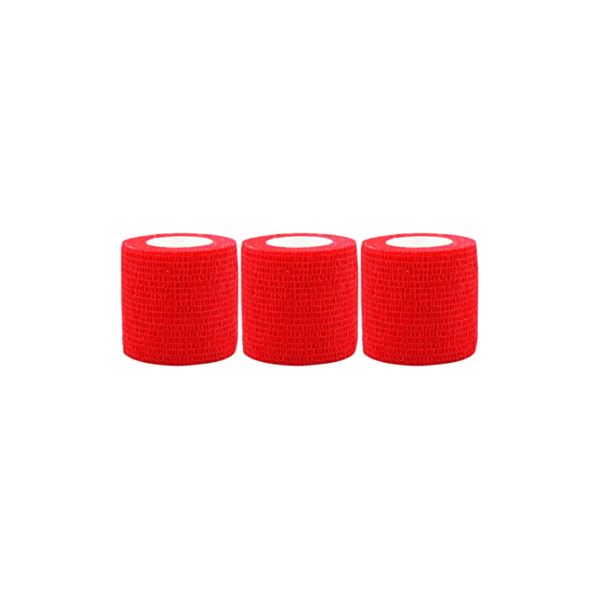 Venda Elástica Cohesiva Nt 5cm x 4,5m Latex Color Rojo 3 Unidades